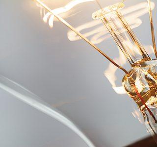 close up of a light bulb