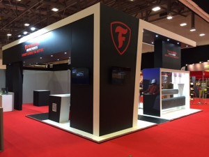 Bespoke exhibition stand for Firestone