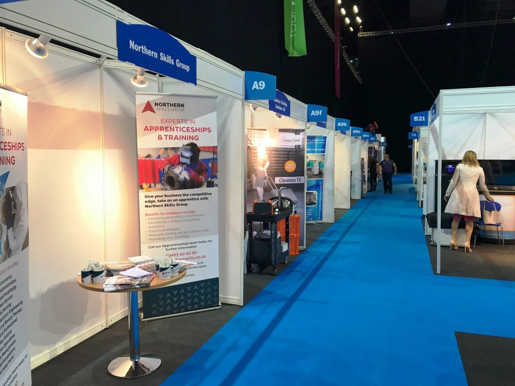 Exhibition stands at MENE 2017