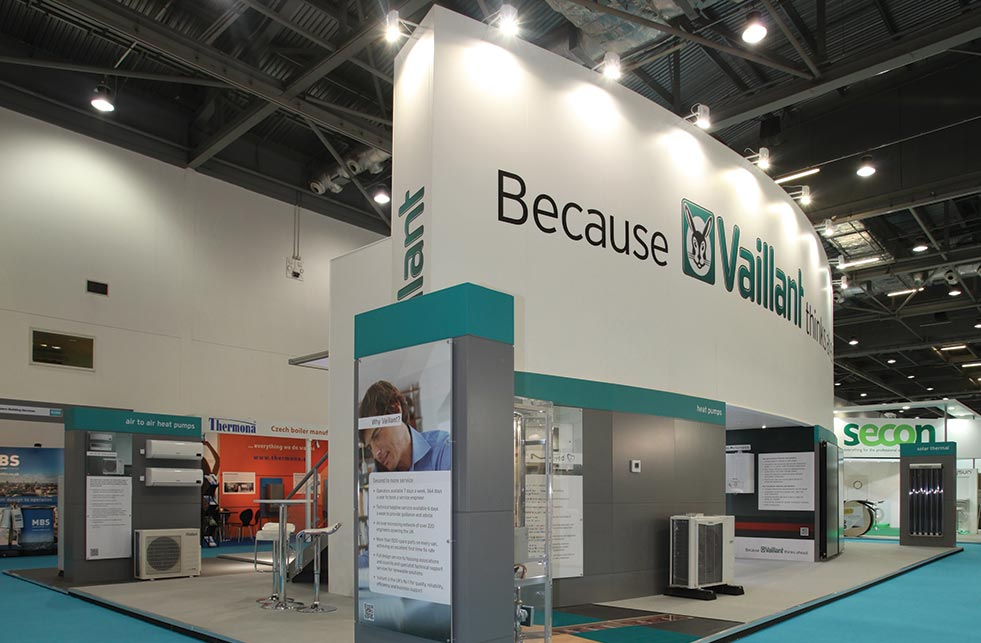Vaillant exhibit stand