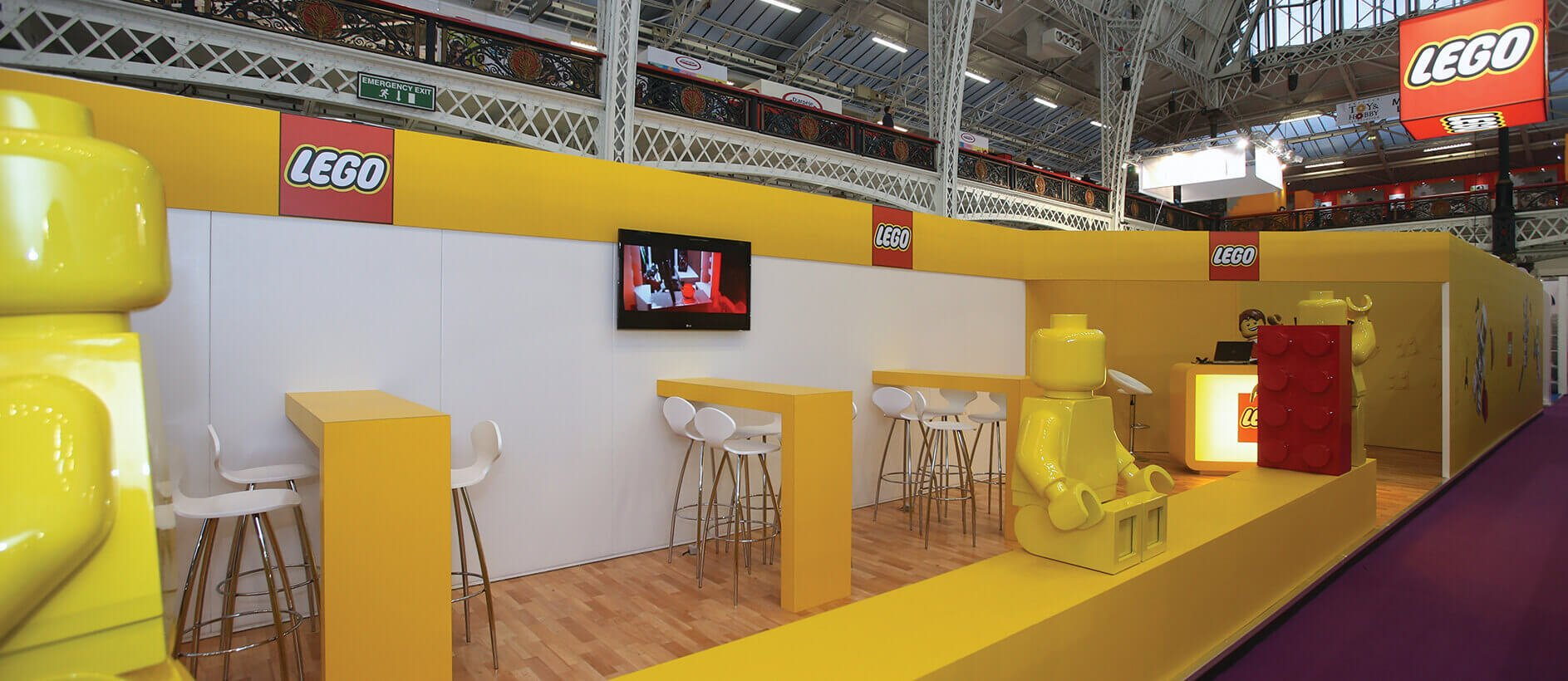 Modular Exhibition Booth : Lego stand exhibition by exhibit sixty