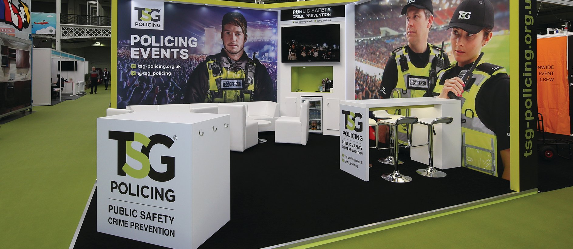 Crime prevention exhibition stand