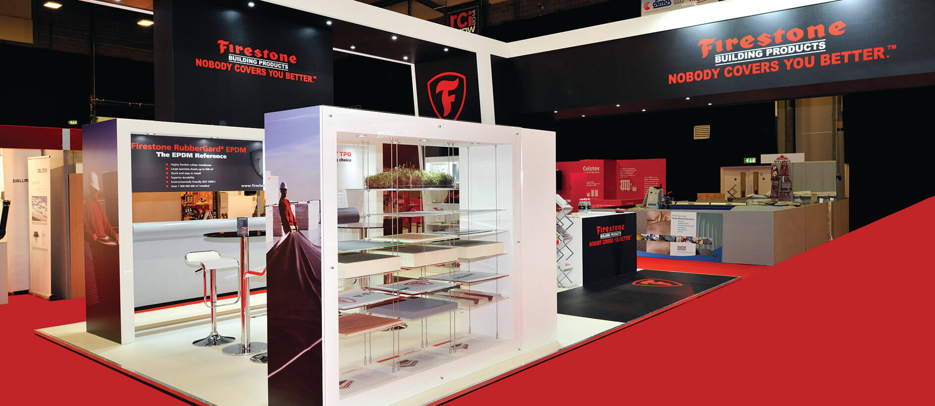 Bespoke stand design for Firestone