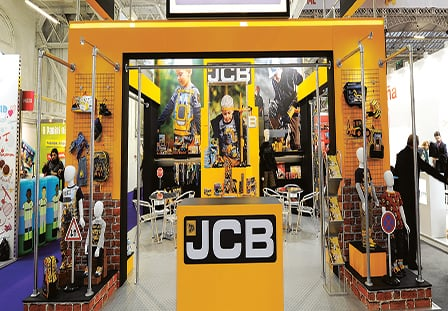 bespoke exhibition stand for JCB