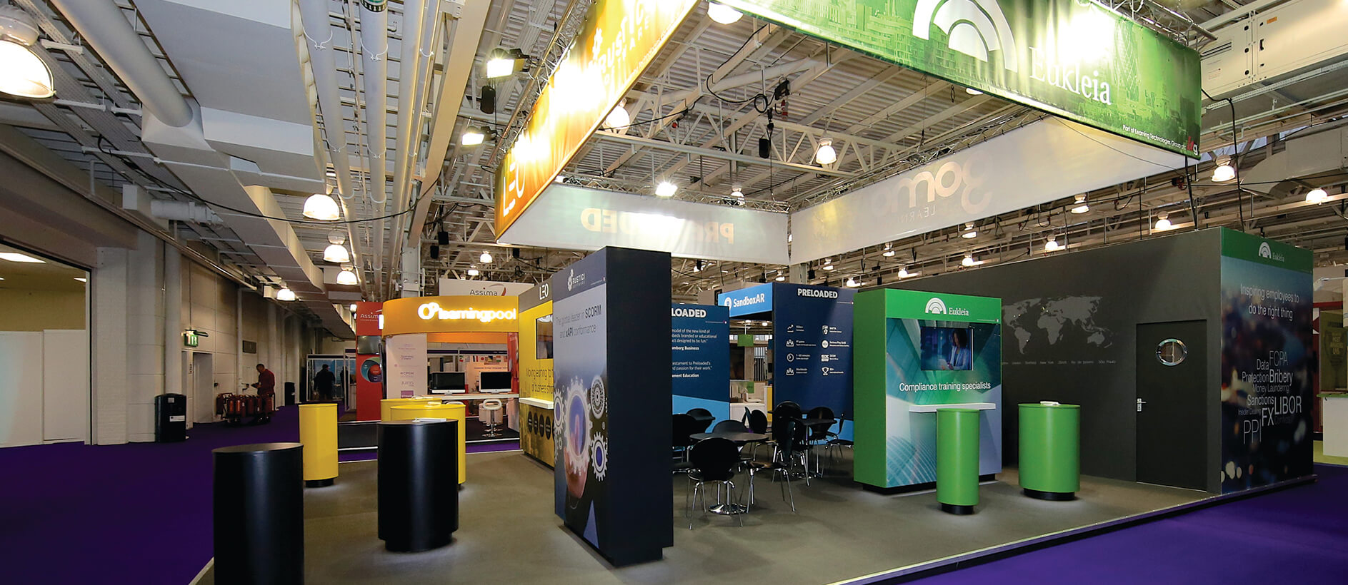 exhibition stand for Leo Learning by Exhibit 3Sixty