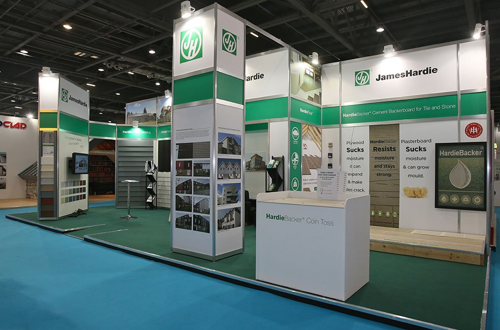 Reusable modular exhibition stand by Exhibit 3Sixty