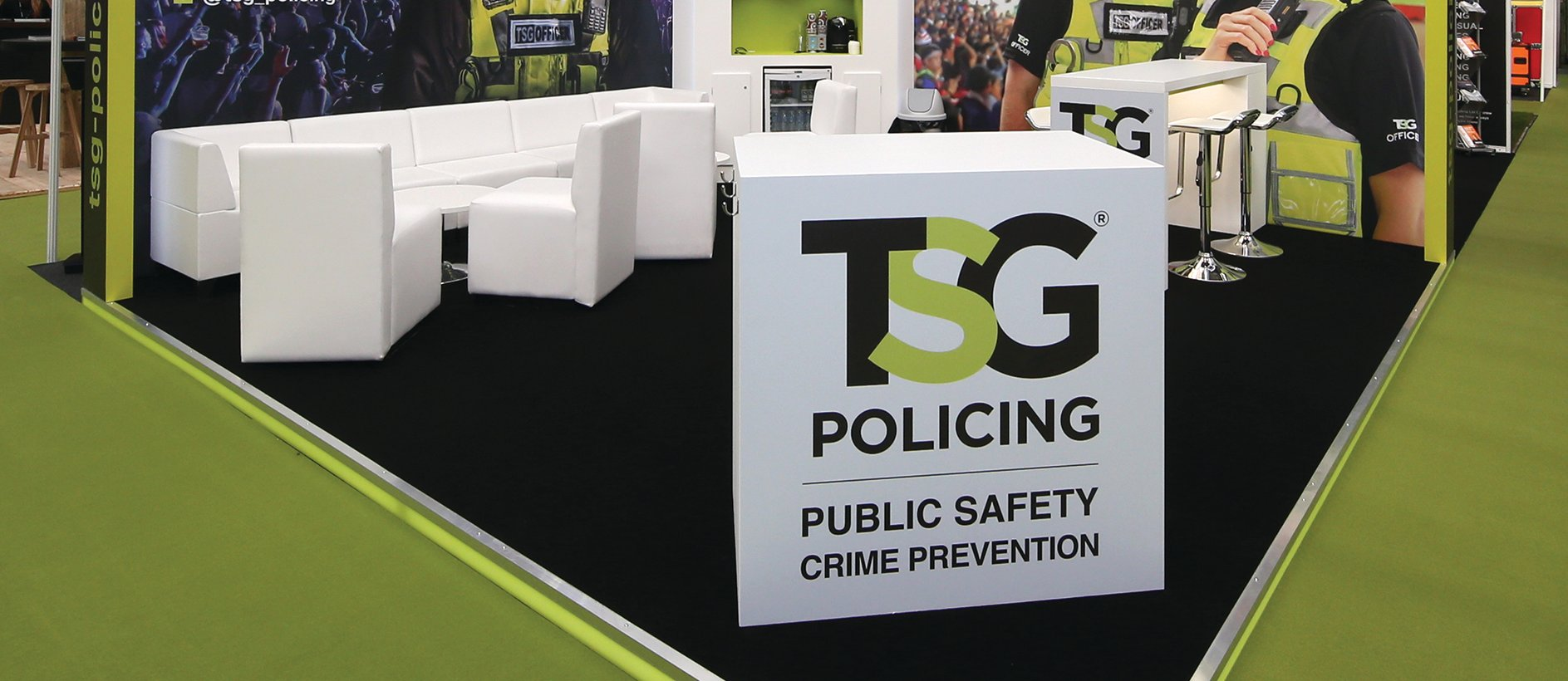 TSG policing branding and exhibition graphics