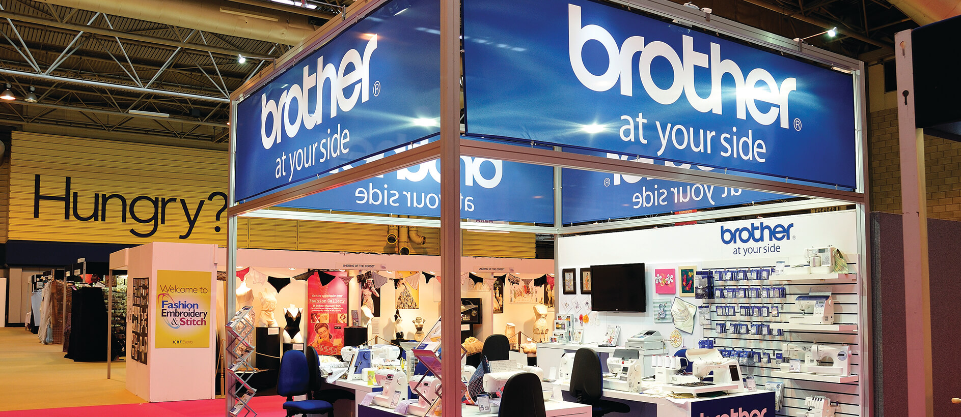 Exhibition stand for Brother printing products