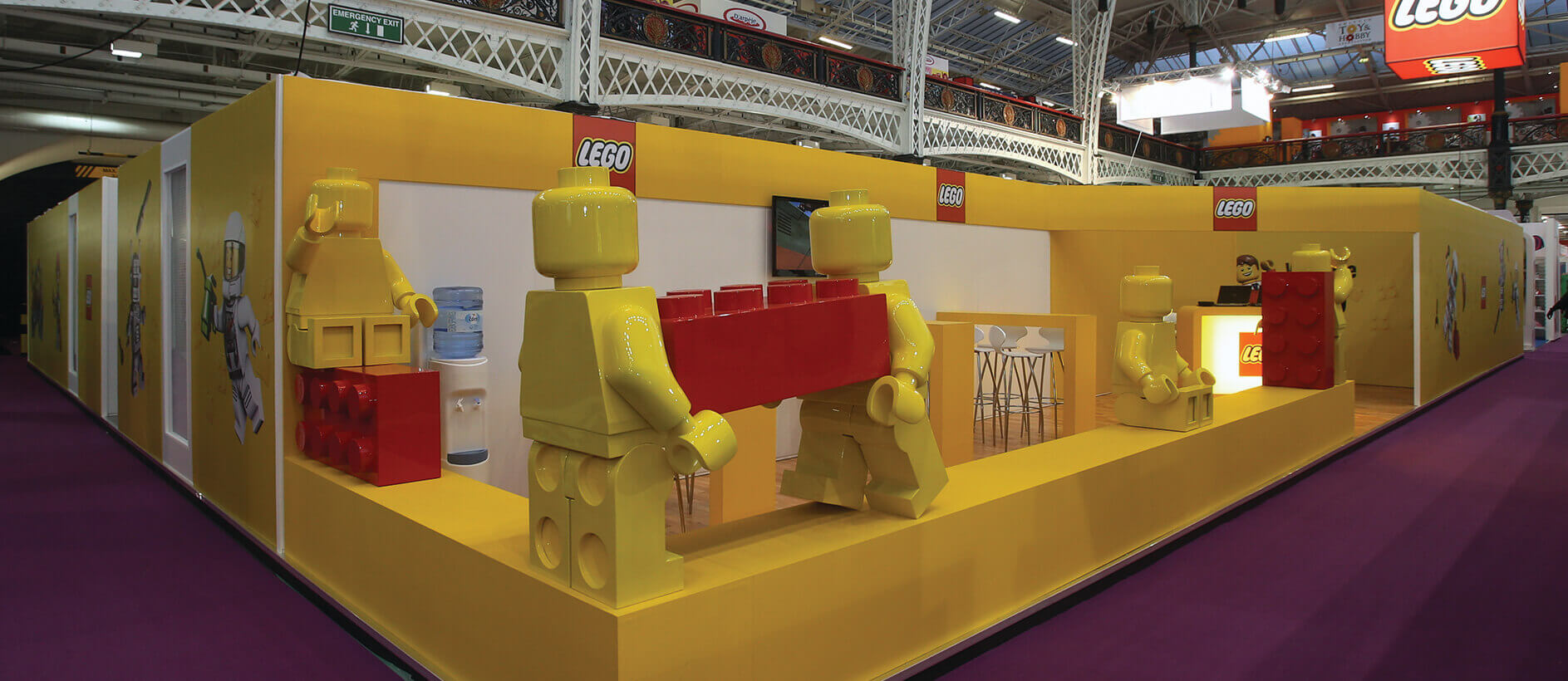 branded exhibition stand for Lego