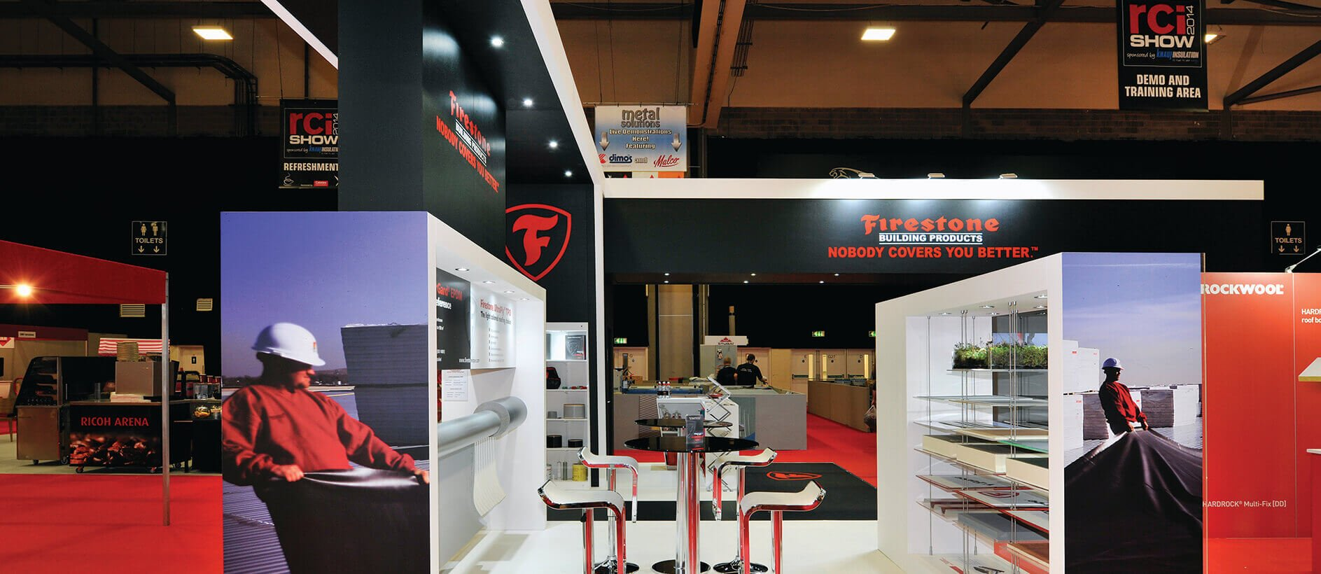 Quality exhibition graphics for Firestone