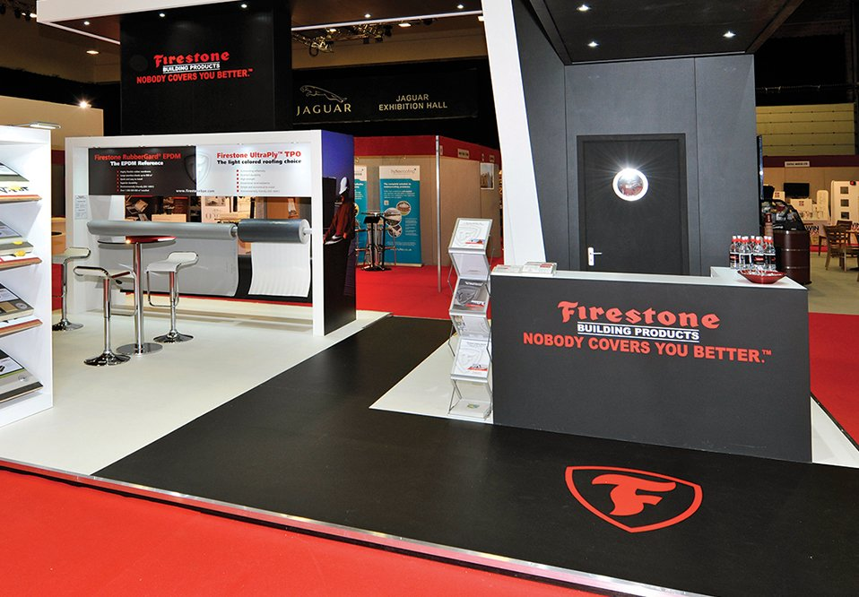 traditional exhibition stand for Firestone