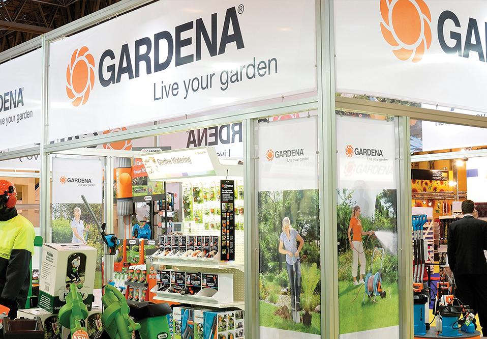 Custom modular stand for Gardena