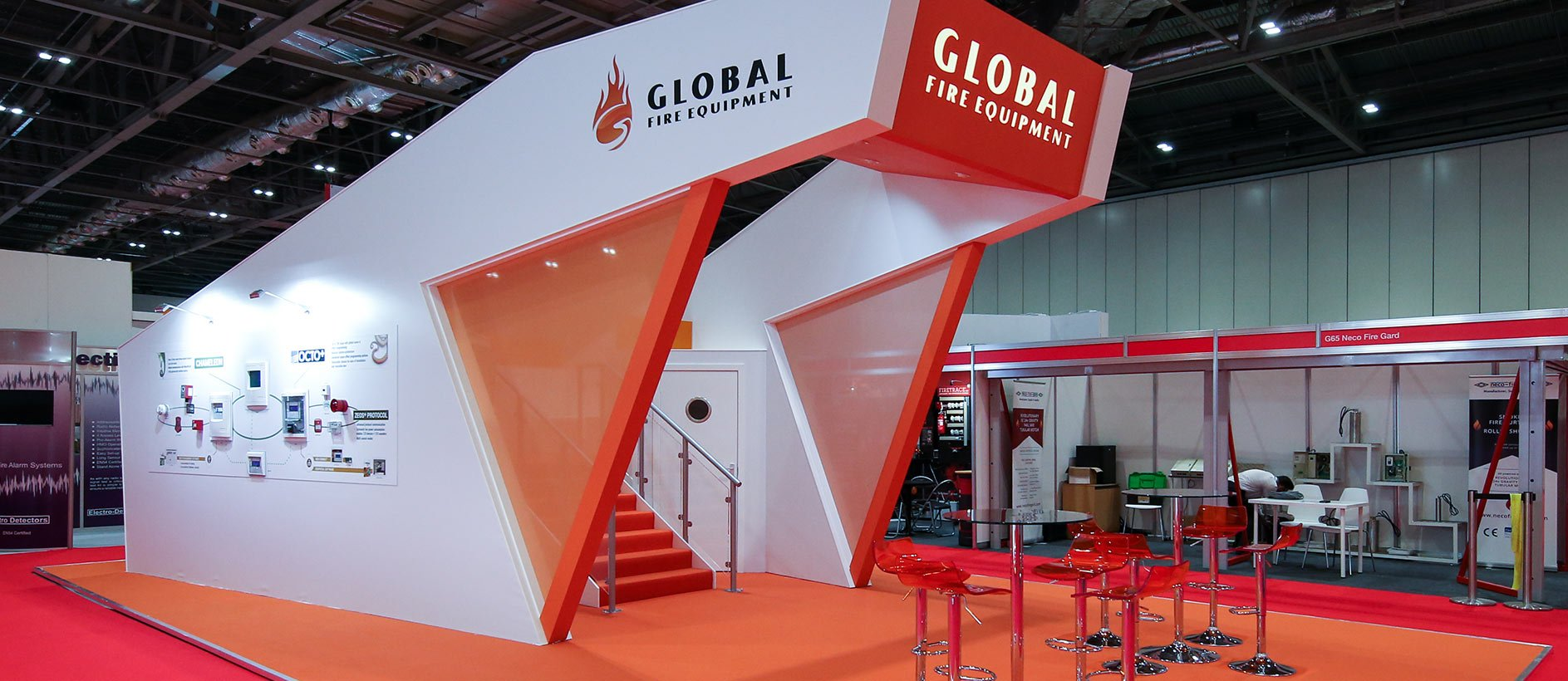 Bespoke exhibition stand for Global Fire Equipment