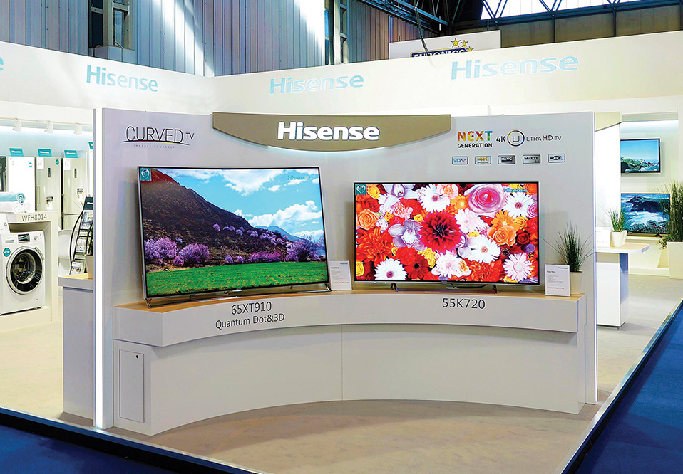 Custom exhibition stand for Hisense