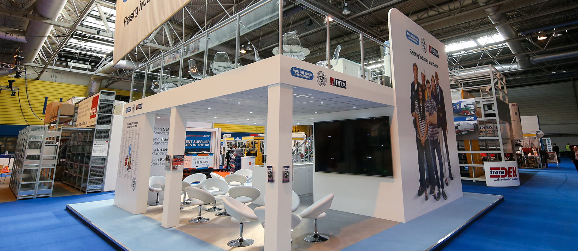 Custom exhibition stand display at IMHX