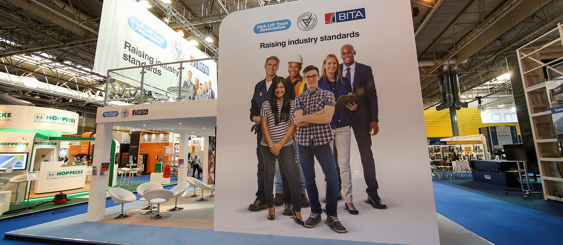 Large exhibition graphics at IMHX