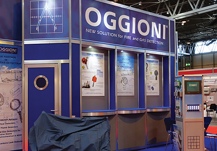 Modular stand at an exhibition