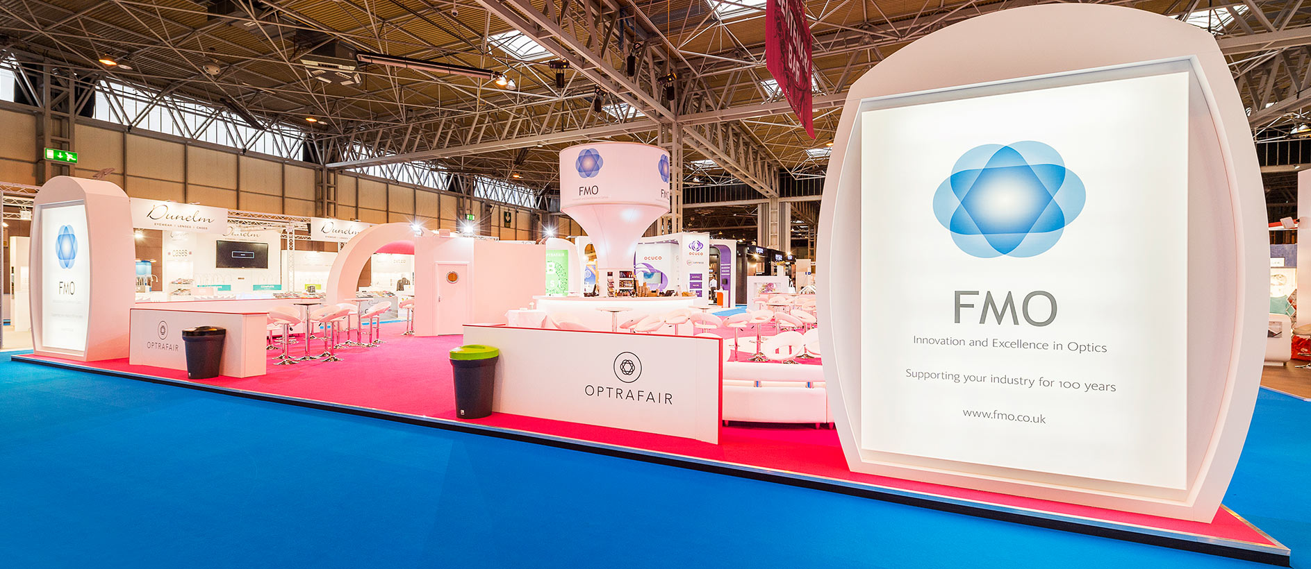 Custom trade show for FMO at Optrafair