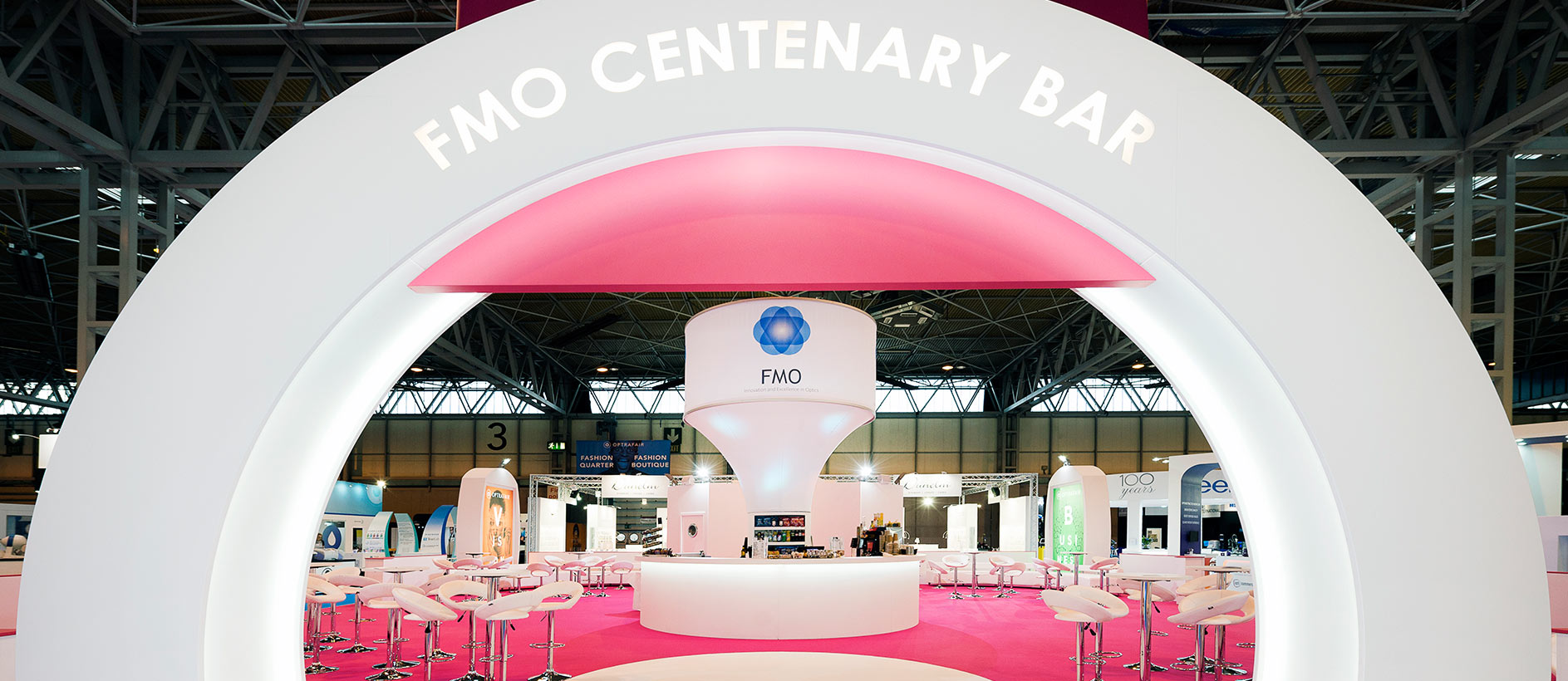 FMO Centenary Bar at Optrafair