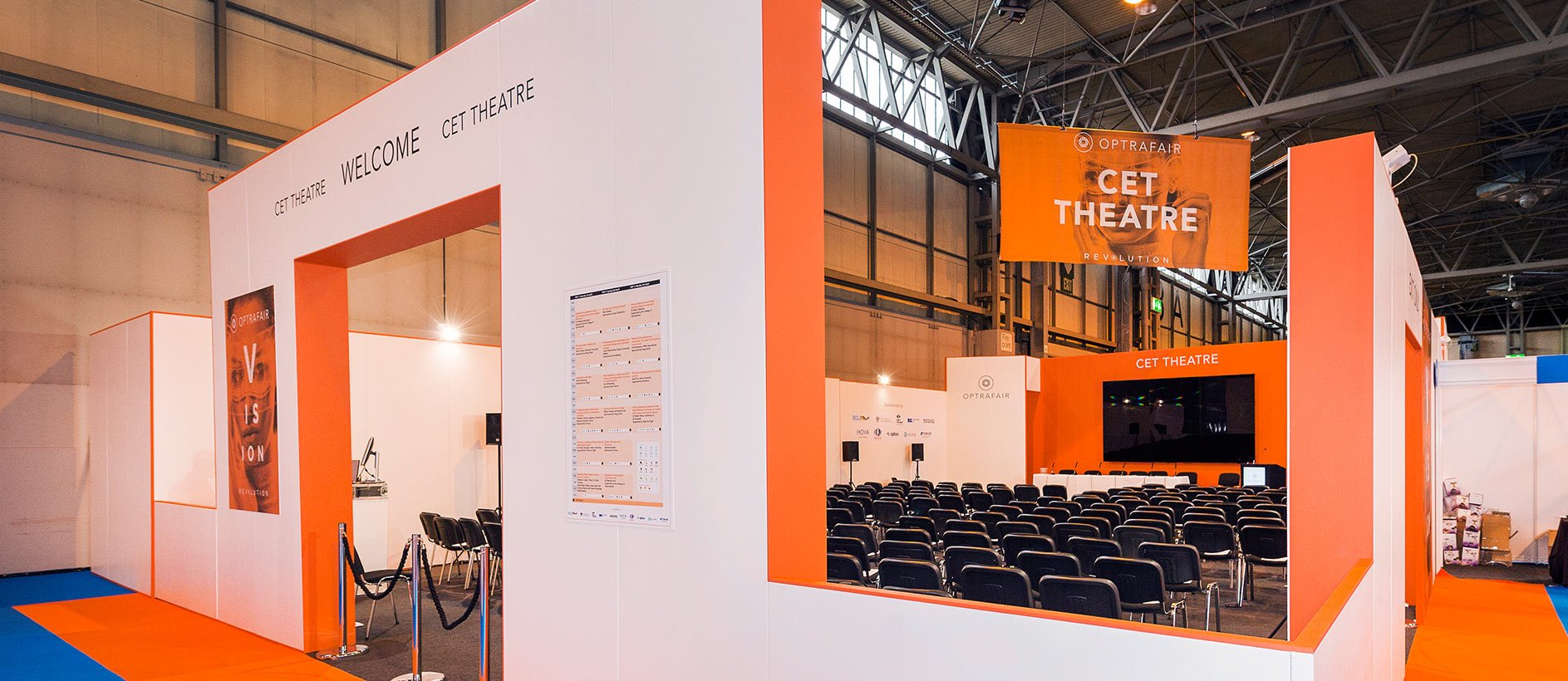 Confrence area at Optrafair