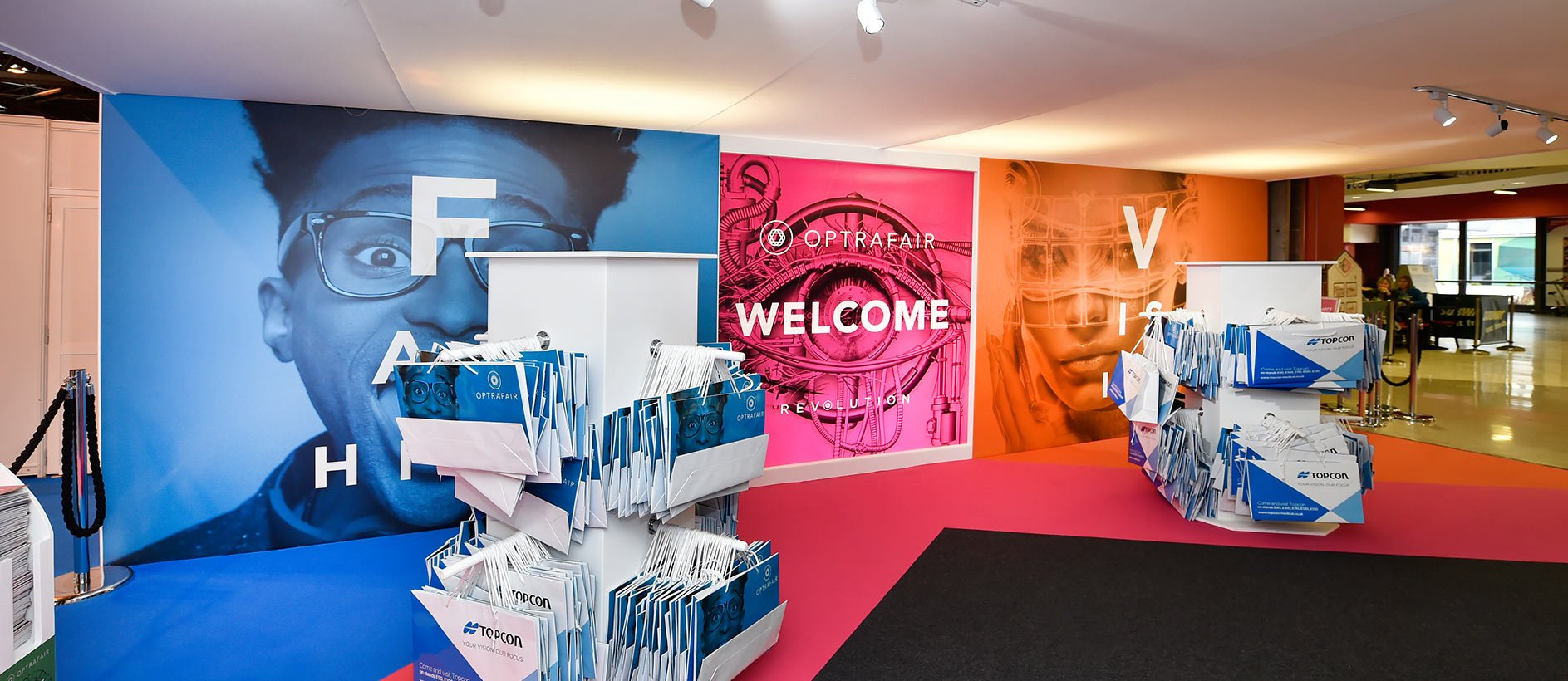 Large format printing at Optrafair