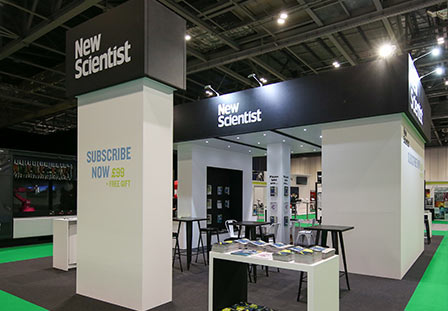 New Scientist custom exhibition stand