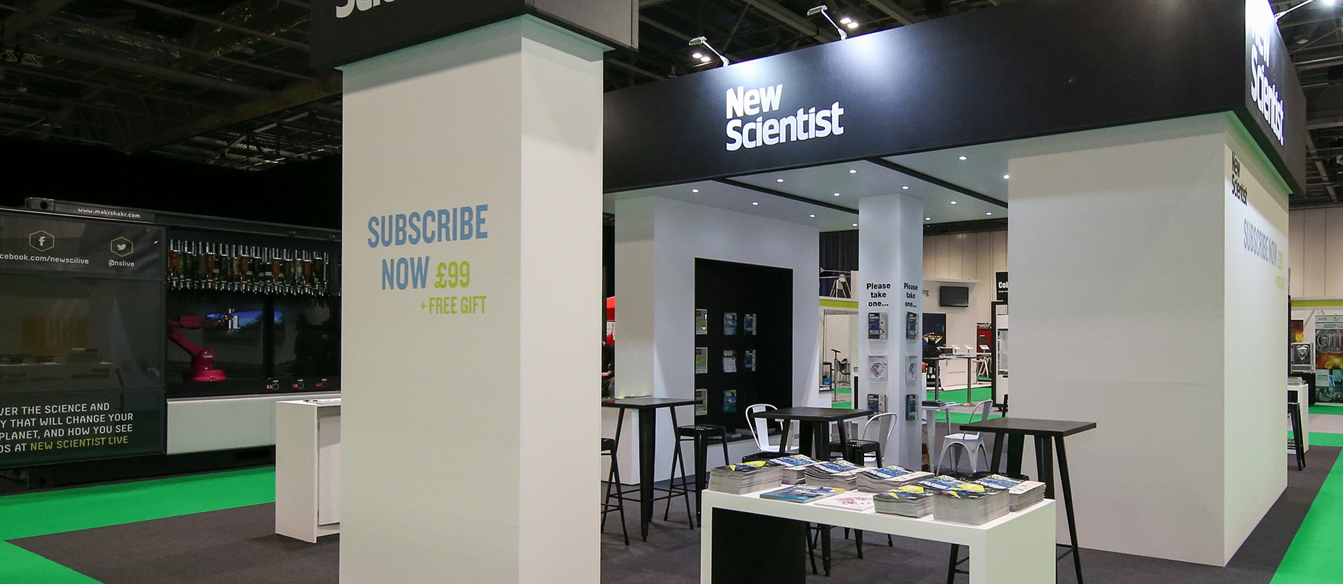 New Scientist trade show display by Exhibit 3Sixty