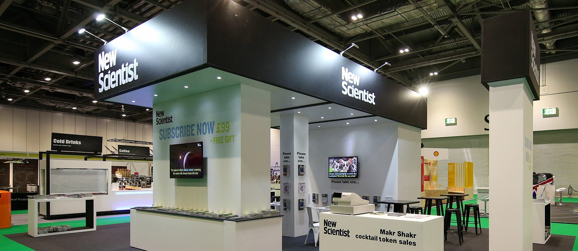 New Scientist exhibition display