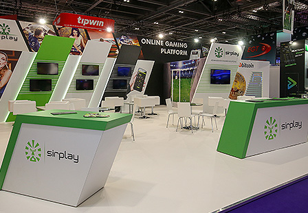 custom exhibition stand for Sirplay