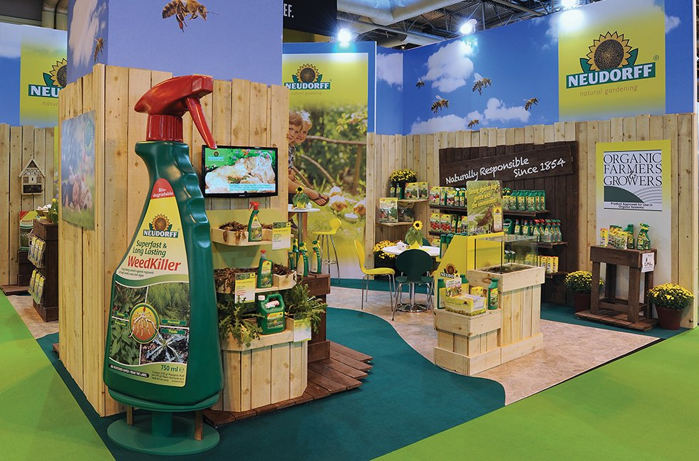 Traditional custom exhibition stand for Neudorff