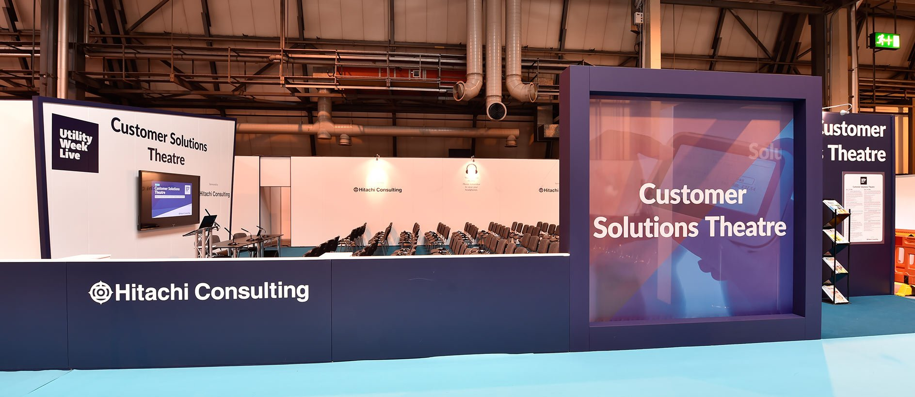 Custom exhibition stand at Utility Week Live