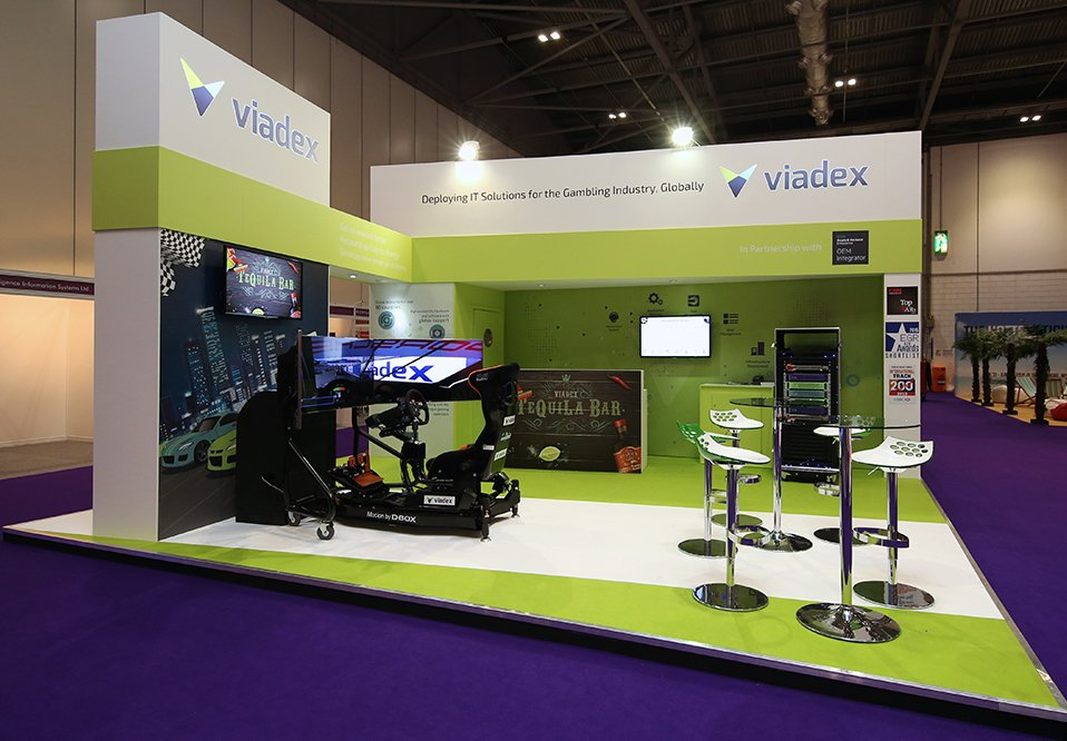 traditional exhibition stand for Viadex
