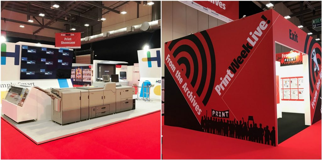 Print Week Live exhibition stands by Exhibit 3Sixty