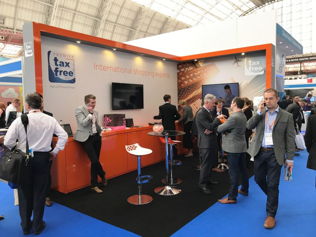Premium Tax exhibition stand by Exhibit 3Sixty