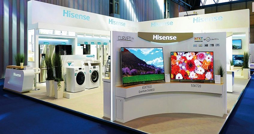 Customised exhibition stand for Hisense