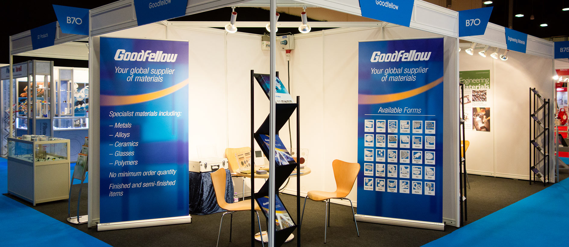 GoodFellow shell scheme display at an exhibition
