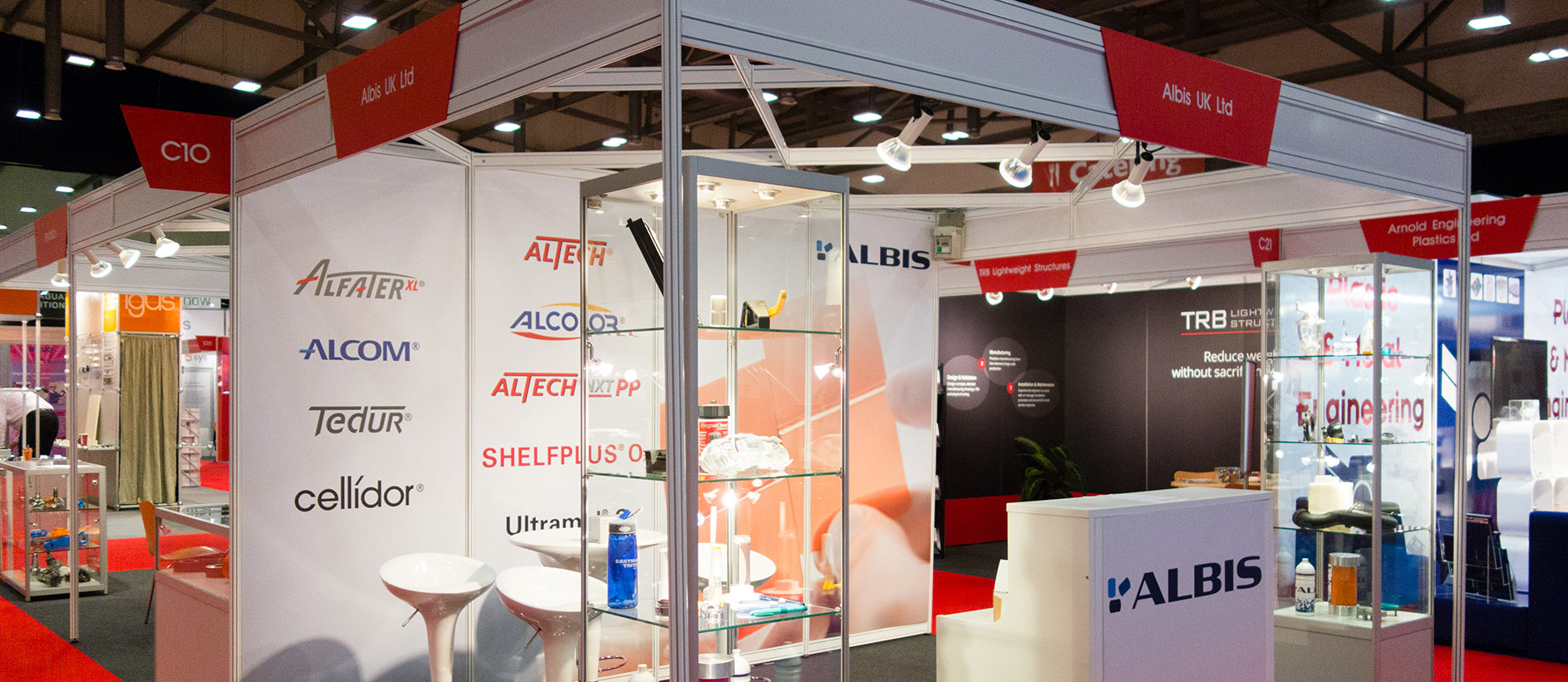 Albis UK shell scheme display at a trade show