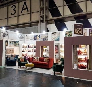 Exhibition stands at the January Furniture Show