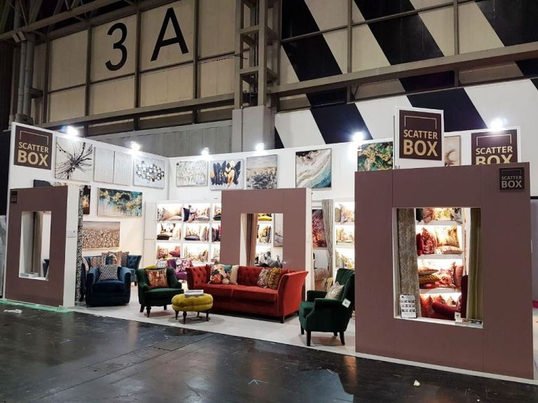 Furniture exhibition stand at the NEC