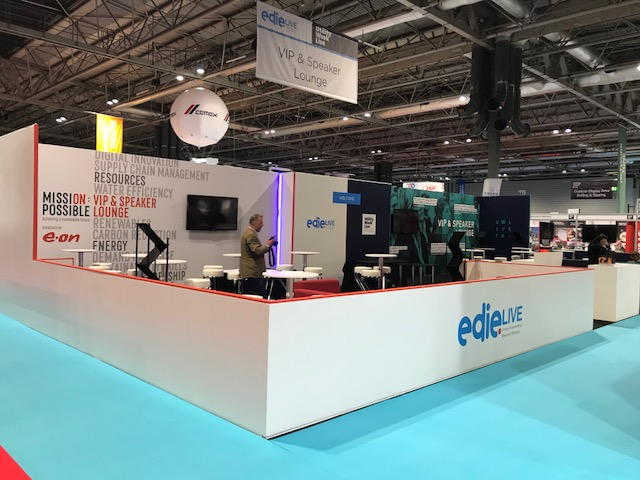 Exhibition Stand at Edie Live 2018