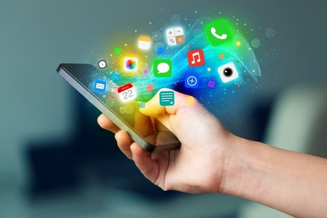 Mobile apps on a smart phone