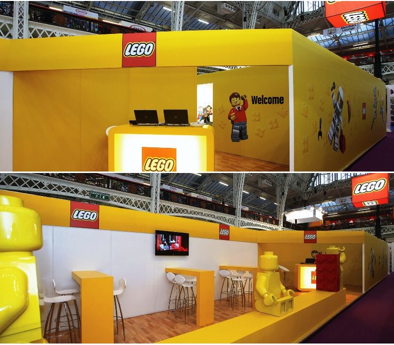 Lego exhibition stand designed and built by Exhibit 3Sixty