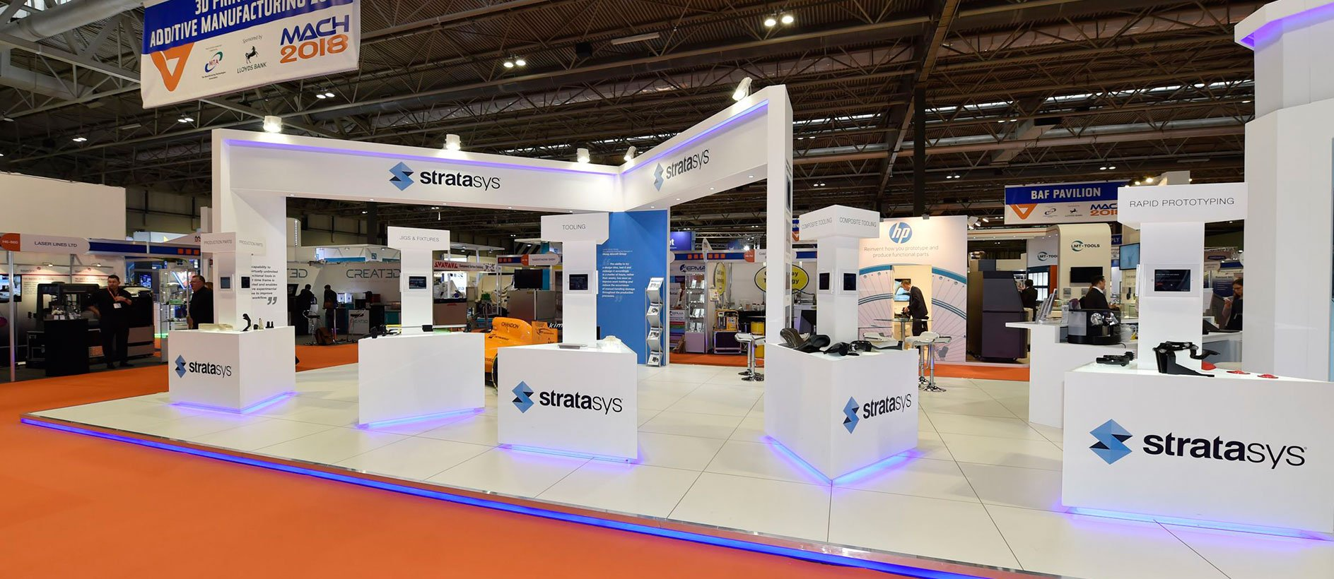 Stratasys exhibition graphic design