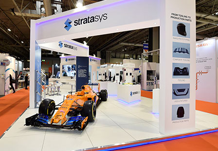 Stratasys exhibition stand by Exhibit 3Sixty