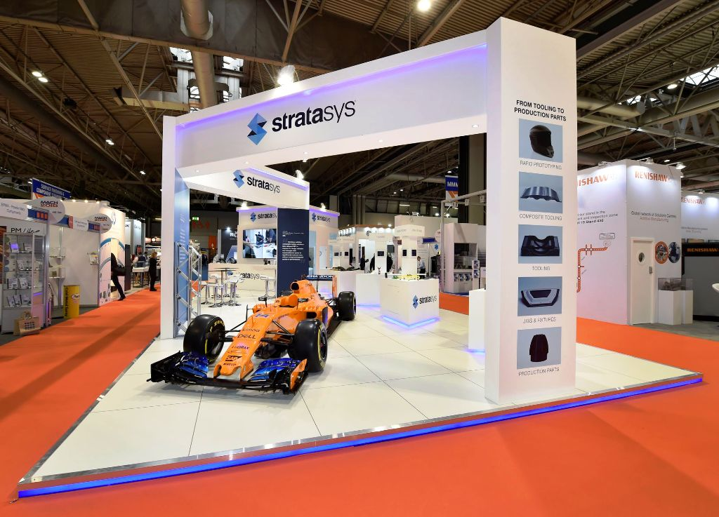 Exhibition stand design and build for Stratasys