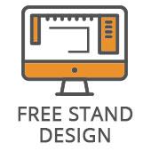 Free stand design Icon
